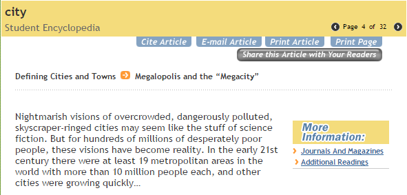 megacities 1